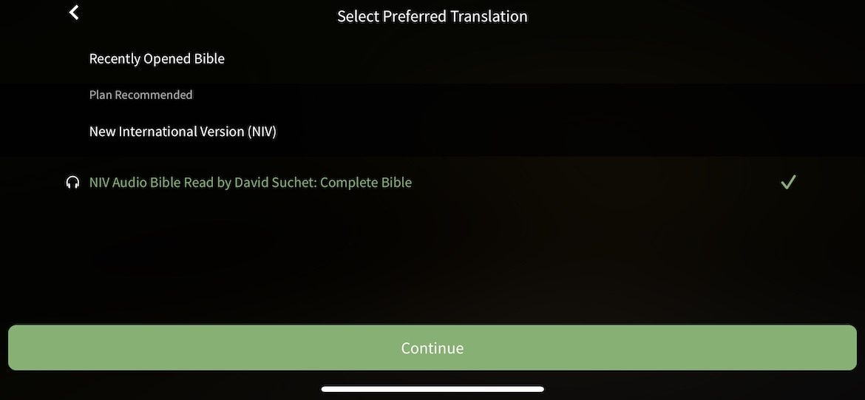 olive tree reading plan audio bible