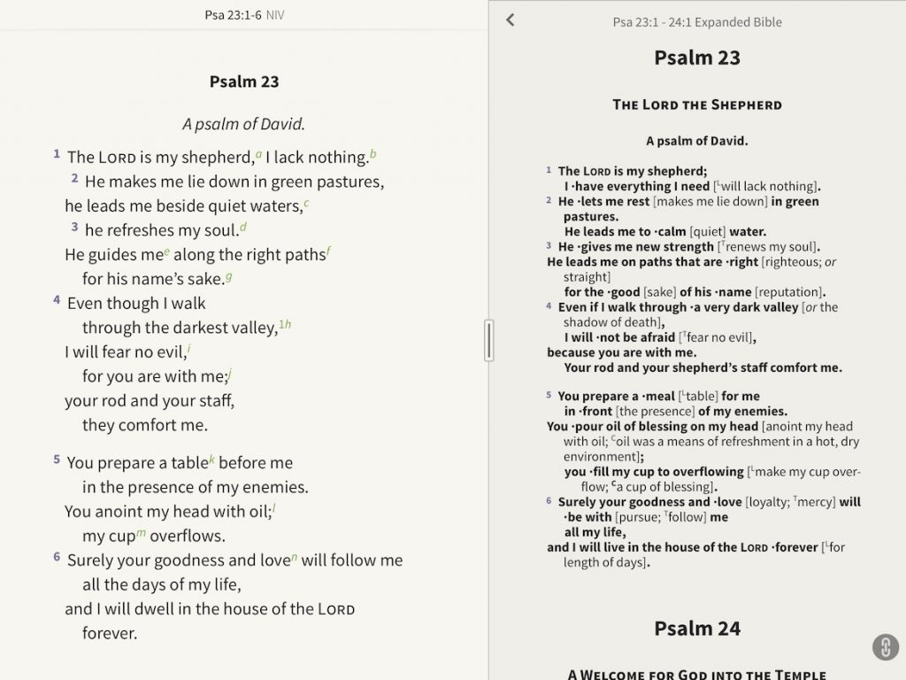 psalm 23 expanded bible