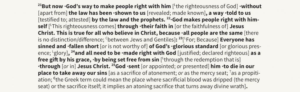Romans 3:21 expanded
