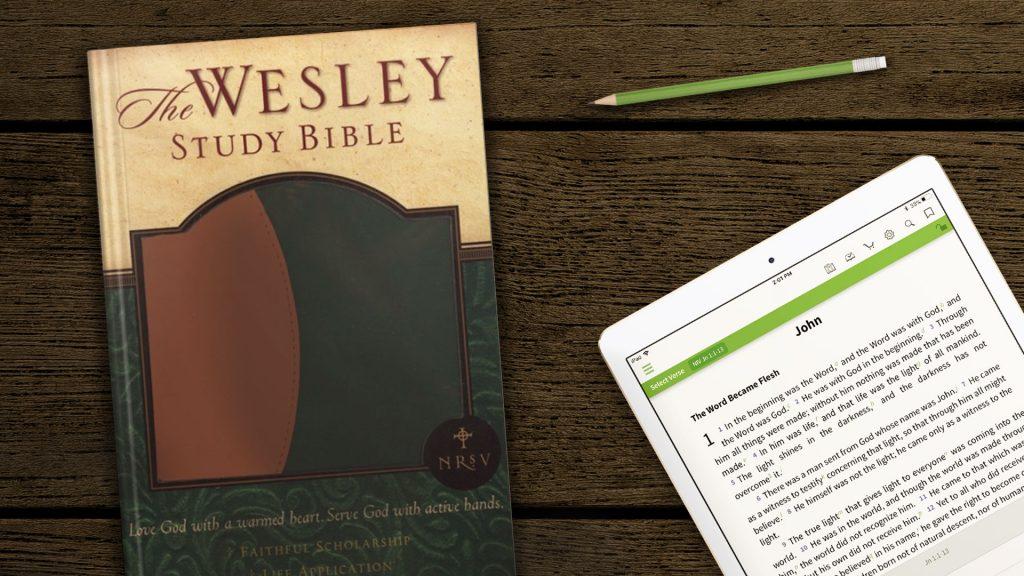 the Wesley study Bible hymns