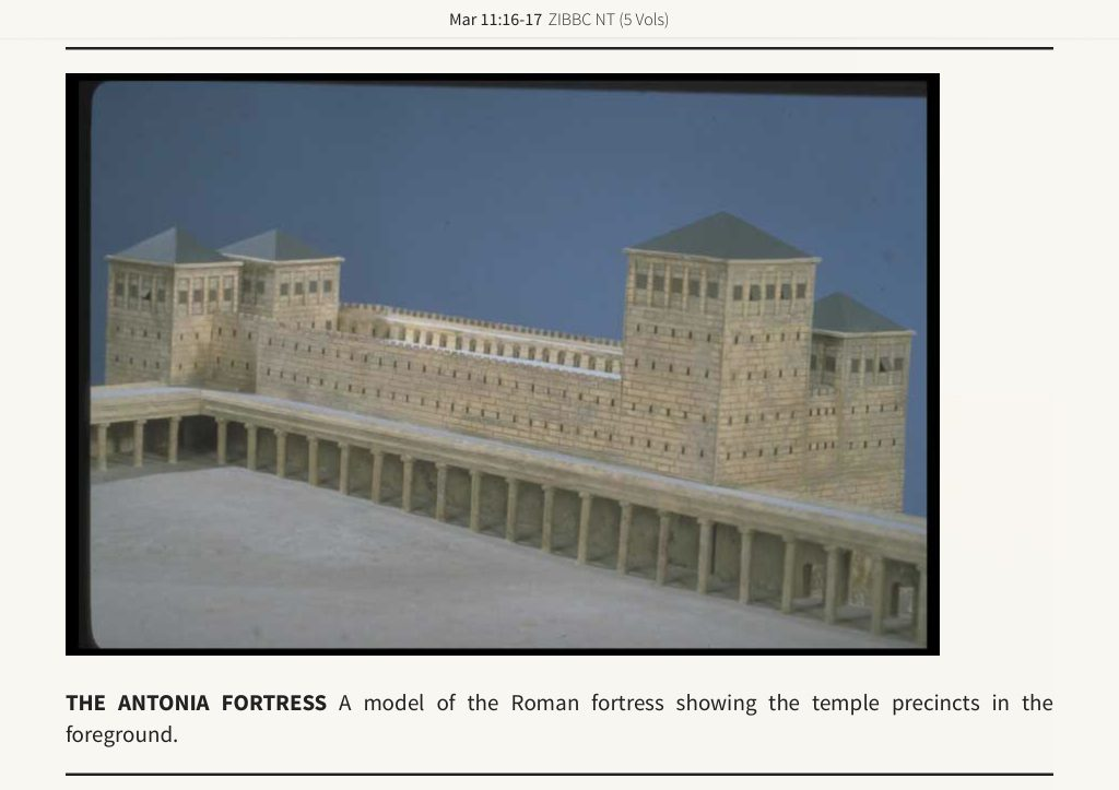 The Antonia Fortress - a model of the roman fortress showing the temple precincts in the foreground.