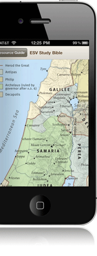 iPhone Bible Reader 5 Map Display