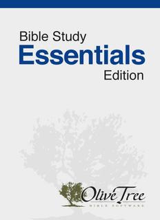 Bible Study Essentials Edition - NRSV