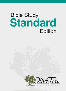 Bible Study Standard Edition - NIV
