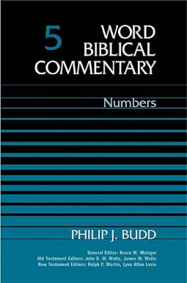 Word Biblical Commentary: Volume 5: Numbers (WBC)