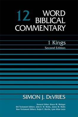 Word Biblical Commentary: Volume 12: 1 Kings, 2nd ed. (WBC)