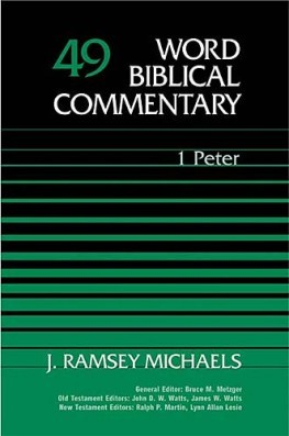 Word Biblical Commentary: Volume 49: 1 Peter (WBC)