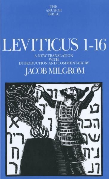 Anchor Yale Bible Commentary: Leviticus 1-16