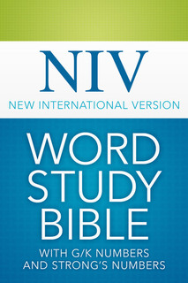 NIV Word Study Bible with G/K and Strong's Numbers