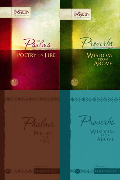 Psalms & Proverbs with Devotional Footnotes (Passion Translation 4 Vols.)