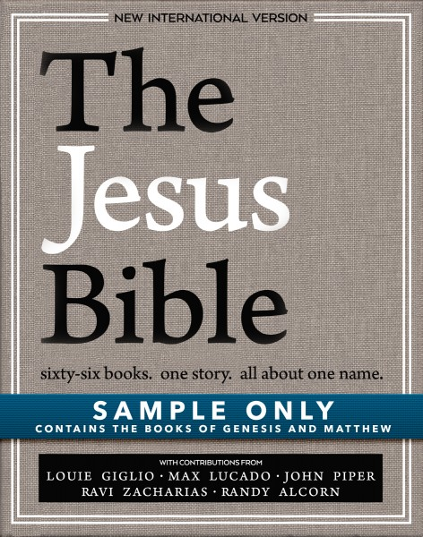 Jesus Bible, NIV Edition Sample