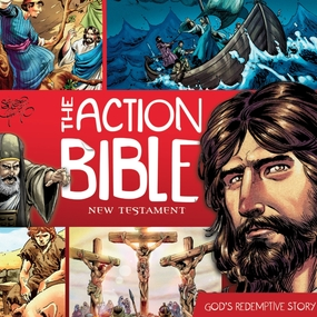 The Action Bible New Testament: God's Redemptive Story by Doug Mauss and Sergio Cariello...