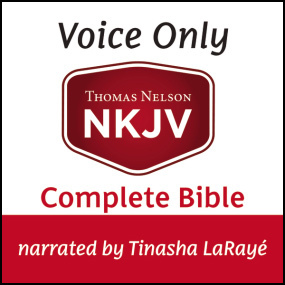 NKJV Voice Only Audio Bible, Narrated by Tinasha LaRayé: Complete Bible