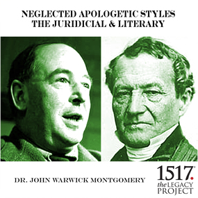 Neglected Apologetic Styles: The Juridicial & Literary by John Warwick Montgomery...