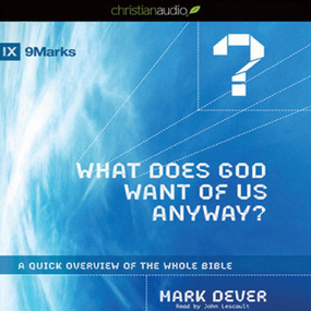 What Does God Want of Us Anyway: A Quick Overview of the Whole Bible by Mark Dever...