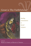 Great Is Thy Faithfulness?